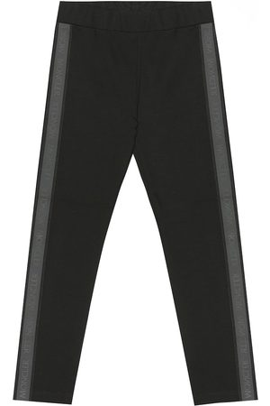 Moncler Logo-taped jersey trackpants