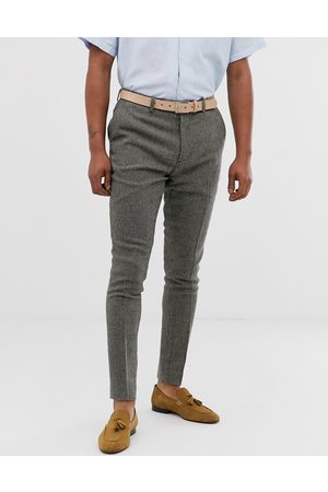 ASOS Super skinny smart trousers in grey dog tooth