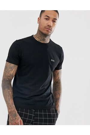 HUGO BOSS Front and back logo t-shirt in black
