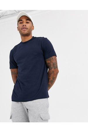 ASOS Organic t-shirt with crew neck in navy