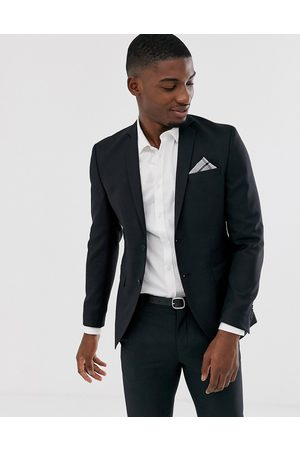Jack & Jones Premium super slim fit stretch suit jacket in black