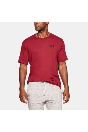 Under Armour Erkek UA Sportstyle Left Chest Kısa Kollu Tişört Red LG