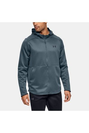 Under Armour Erkek UA MK-1 Warm-Up Tam Boy Fermuarlı Kapüşonlu Üst Gray XS