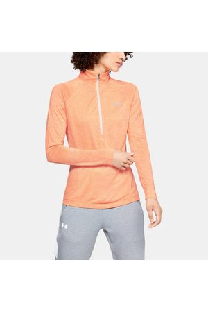 Under Armour Kadın UA Tech™ Twist ½ Boy Fermuarlı Orange XS