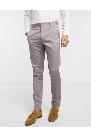 ASOS Wedding skinny suit trousers in grey stretch cotton