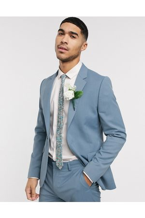 ASOS Wedding skinny suit jacket in soft blue