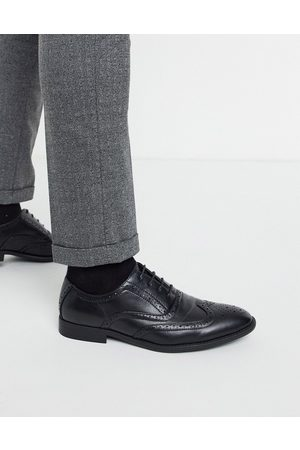 ASOS Brogue shoes in black faux leather
