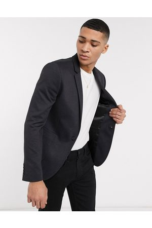 ASOS Super skinny blazer in blue tonal check jersey