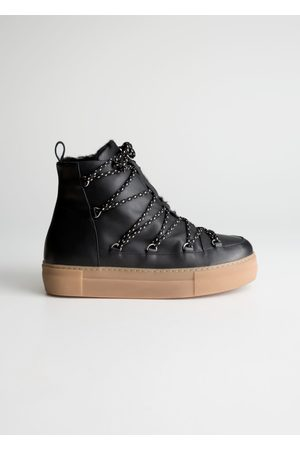 & OTHER STORIES Lace Up Snow Boots - Black