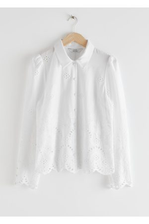& OTHER STORIES Broderie Anglaise Blouse - White
