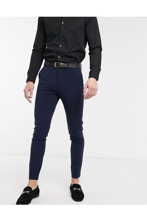 ASOS Super skinny smart trousers in navy