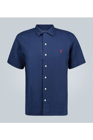 Polo Ralph Lauren Linen-blend short-sleeved shirt
