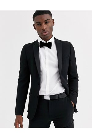 ASOS Super skinny tuxedo suit jacket in black