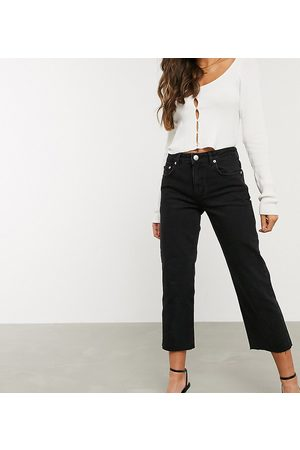 ASOS ASOS DESIGN Petite High rise 'effortless' stretch kick flare jeans in black