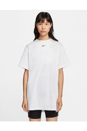 Nike Mini swoosh oversized t-shirt dress in white
