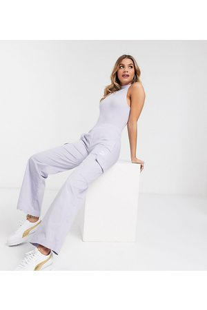 Puma Cargo wide leg trousers in lilac - exclusive to ASOS-Purple