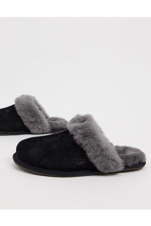 UGG Scuffette II slippers in black and grey