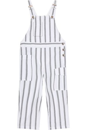 Brunello Cucinelli Exclusive to Mytheresa – Striped cotton overalls