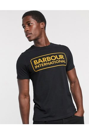 Barbour Essential large logo t-shirt in black