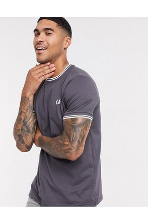 Fred Perry Twin tipped ringer t-shirt in grey