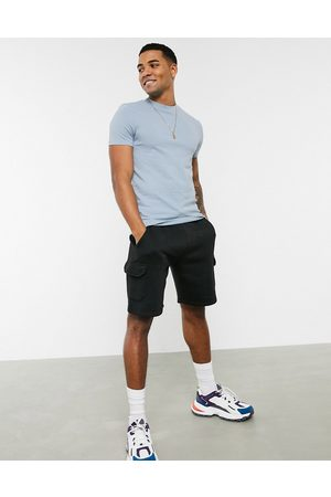 ASOS Muscle fit t-shirt in pique in blue