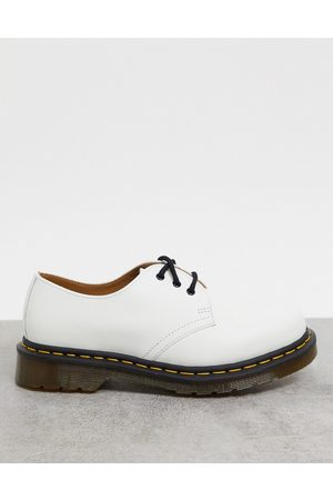 Dr. Martens 1461 3 eye flat shoes in white