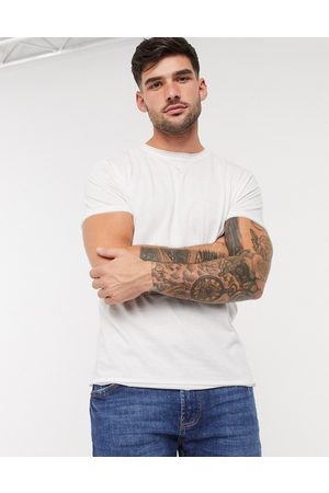 Brave Soul Raw edge t-shirt in white