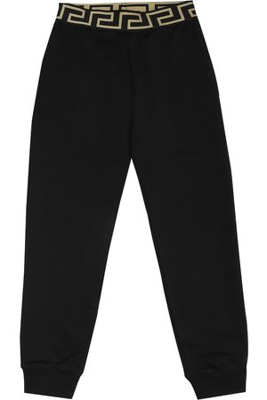 VERSACE Cotton-jersey trackpants