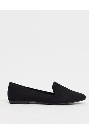 ASOS Lakeside slipper ballet flats in black