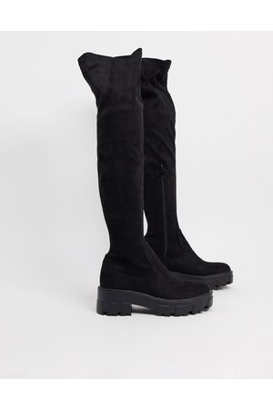 Raid Pierra chunky over the knee boots in black