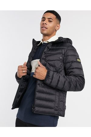 Barbour Ouston hooded quilted jacket in black