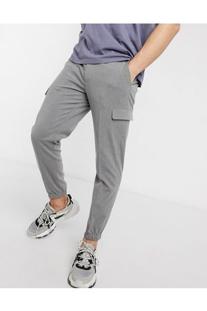 ASOS Smart skinny trousers with cargo pockets in grey