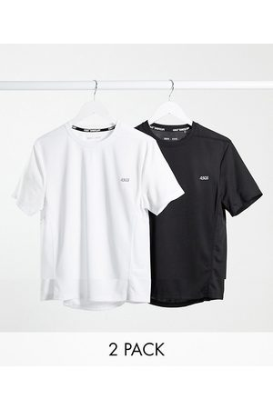 ASOS 4505 Icon training t-shirt with quick dry 2 pack SAVE-Black