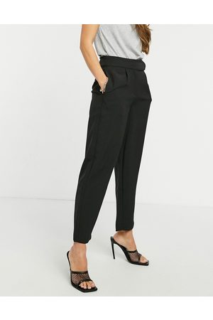 Y.A.S Kadın Resmi Pantolon - Tailored trouser with deep waistband and pleat front in black