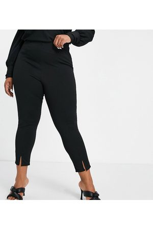 Yours Ponte tapered trousers in black