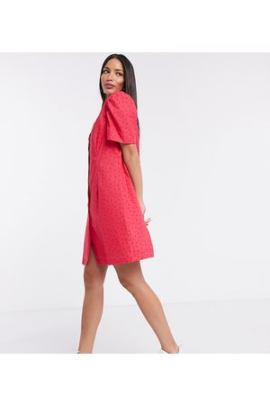 Glamorous Mini shirt dress in ditsy strawberry-Pink