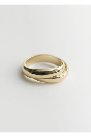 & OTHER STORIES Twist Finish Ring - Gold