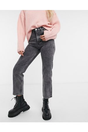 & OTHER STORIES Keeper organic cotton straight cropped jeans in grey