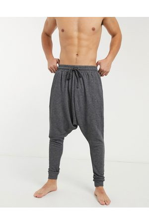ASOS Lounge drop crotch pyjama bottoms in black
