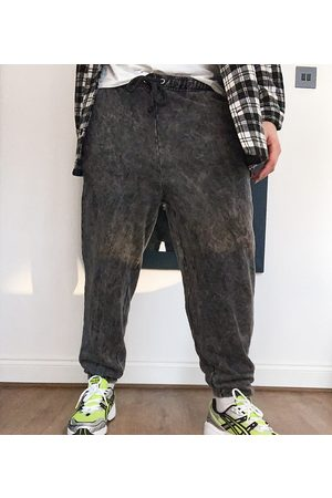 COLLUSION Oversized joggers with in acid wash-Grey