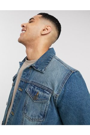 Brave Soul Slim fit denim jacket in blue