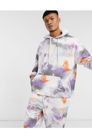 ASOS Co-ord oversized hoodie with all over print-Multi