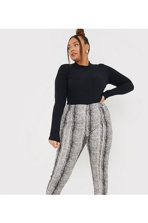 In The Style X Lorna Luxe skinny trouser in faux snake print-Multi