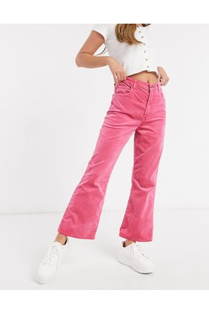 J Brand Julia High Rise Flared Jean in Rose Petal Pink