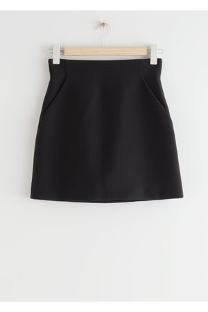 & OTHER STORIES A-Line Mini Skirt - Black
