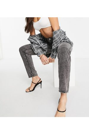 Missguided Mom jean in grey acid wash