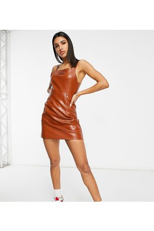 Fila Strappy croc mini dress in brown