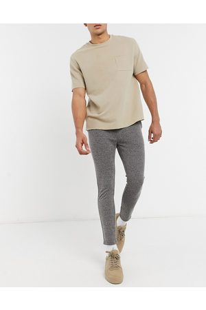 Mauvais Zig zag textured casual co-ord joggers-Black