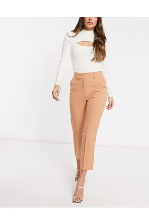 ASOS Tailored smart mix & match cigarette suit trousers-Pink