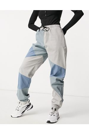 Missguided Cargo trousers in blue colour block